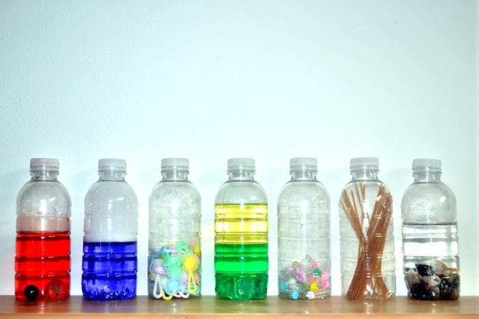 idées remplissage bouteille sensorielle