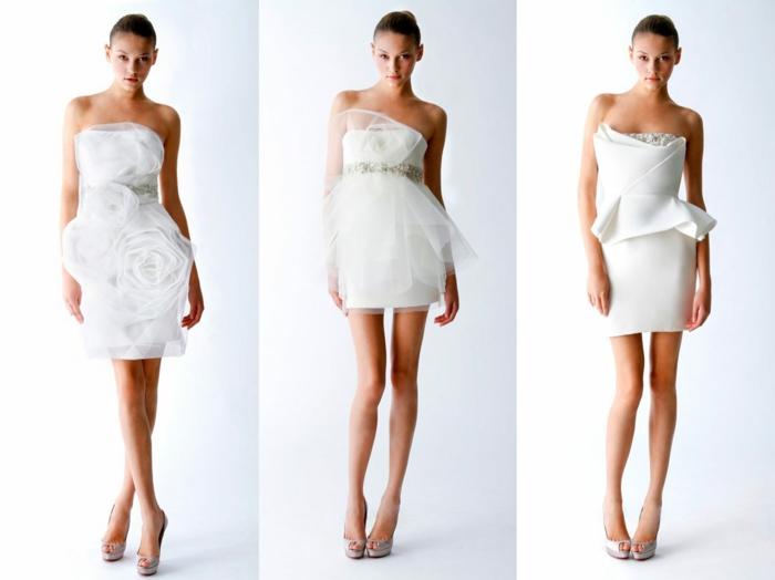 inspirations robe de mariée courte pour l'été