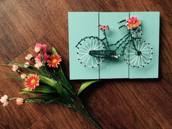 jolie idée de cadeau fête des mères avec de la ficelle