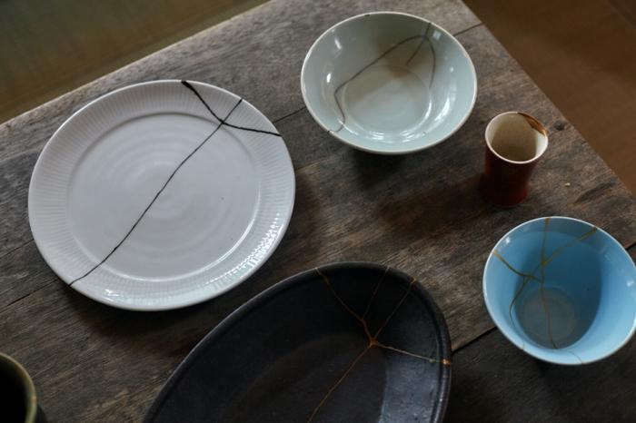 kintsugi pour réparer la céramique