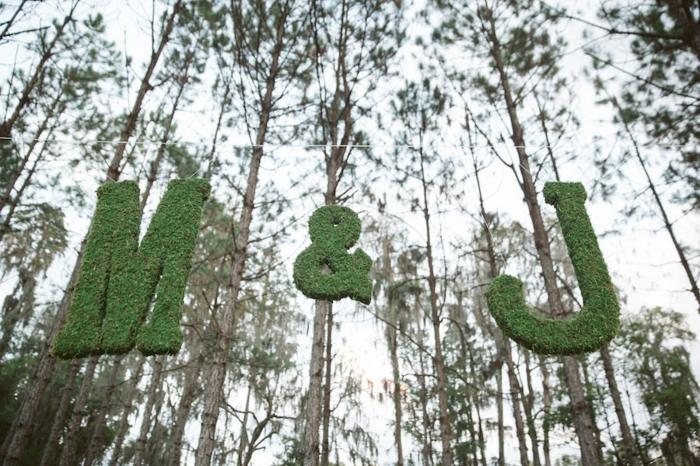 lettres en mousse végétale déco mariage