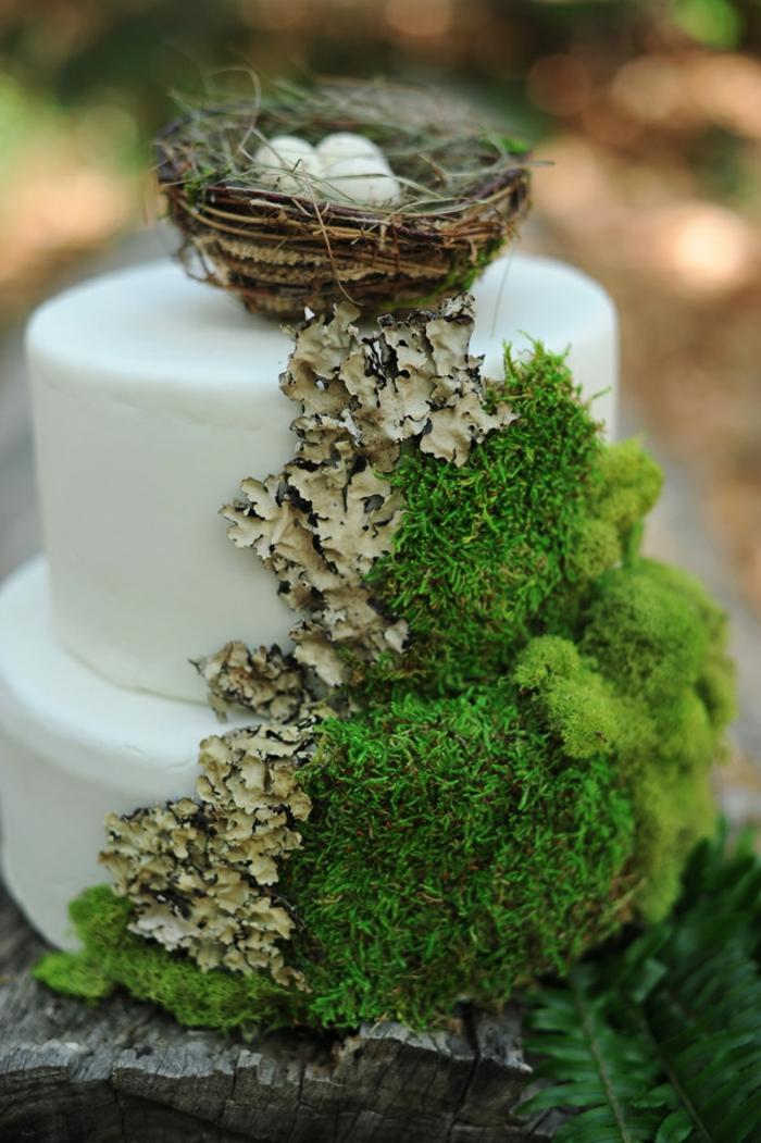 mariage thème forêt déco mousse végétale