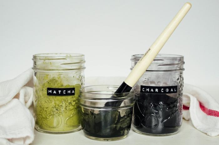 masque charbon au thé matcha