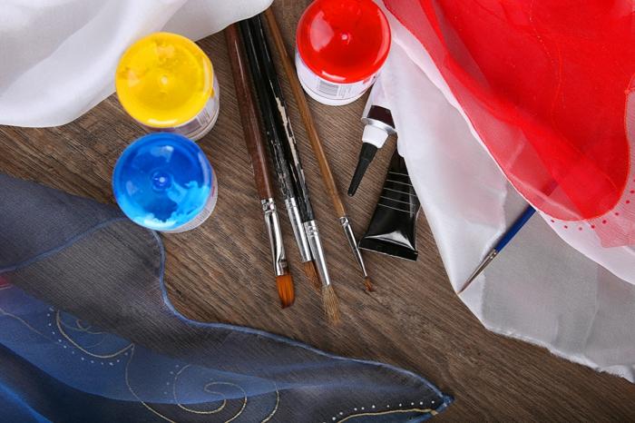 matériaux pour la peinture sur soie