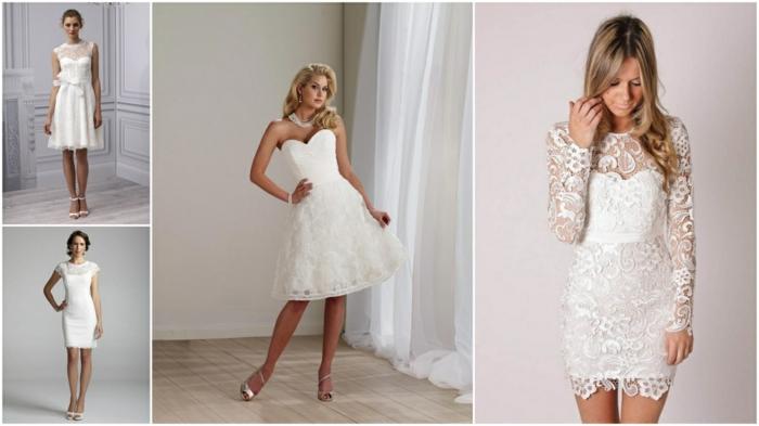 modèles de robe de mariée courte