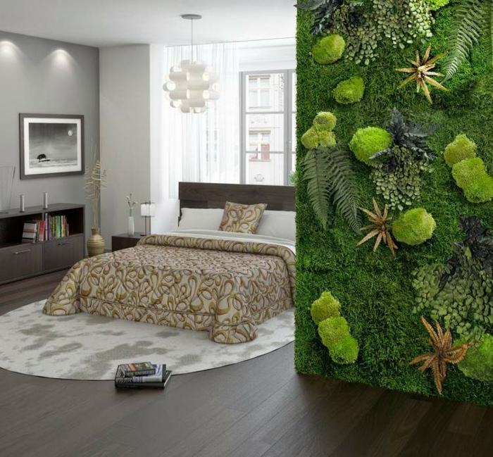 mousse végétale décoration murale chambre