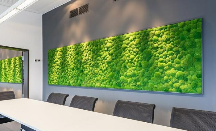 mousse végétale panneau décoratif bureau