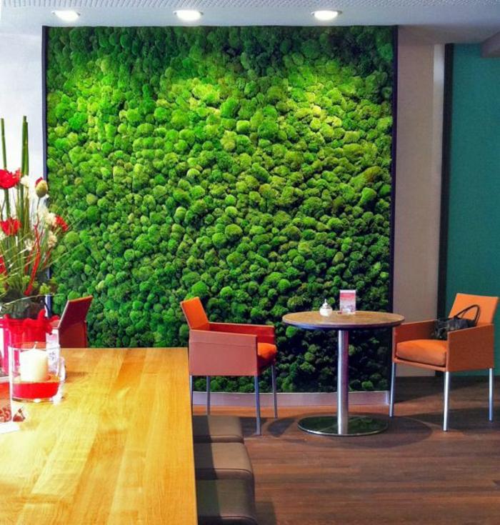 mur végétal mousse végétale mur café