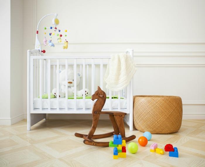 panier à jouets panier tressé chambre bébé