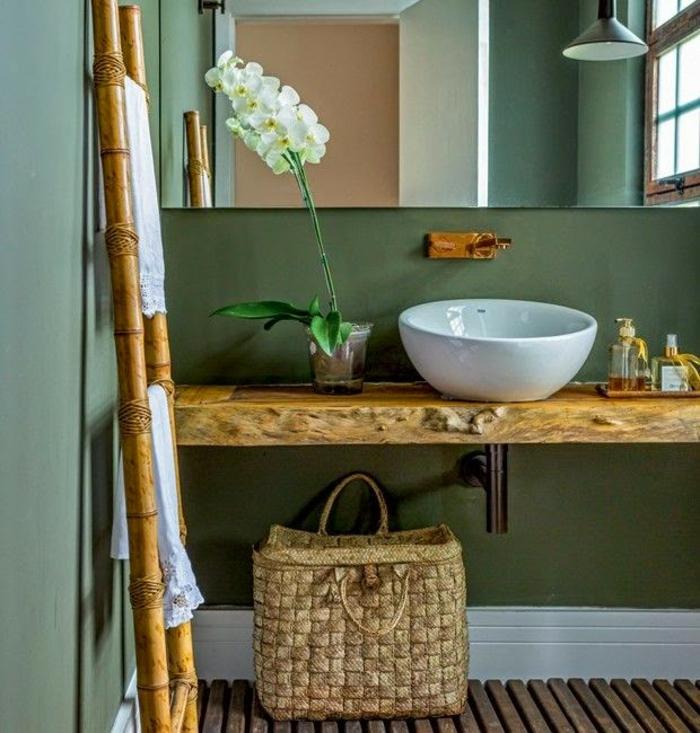 panier à linge sale salle de bain panier tressé