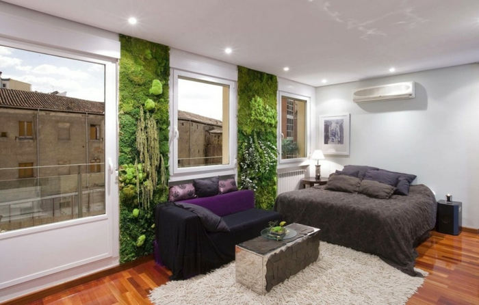 panneaux décoratifs mousse végétale chambre