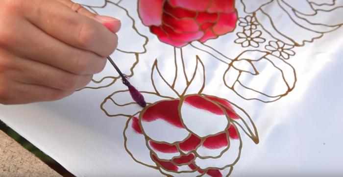 peinture sur soie comment réaliser facilement