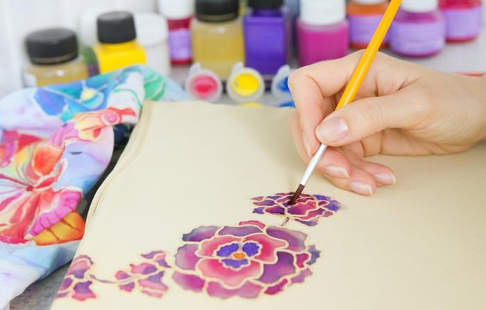peinture sur soie comment réaliser