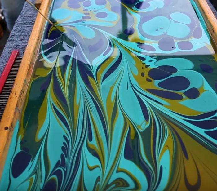 peinture sur soie originale