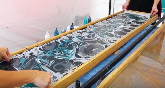 peinture sur soie unique