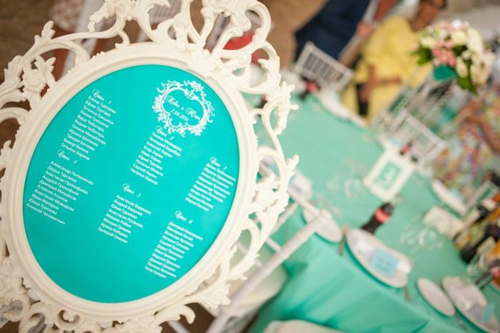 plan de table mariage idée avec cadre photos