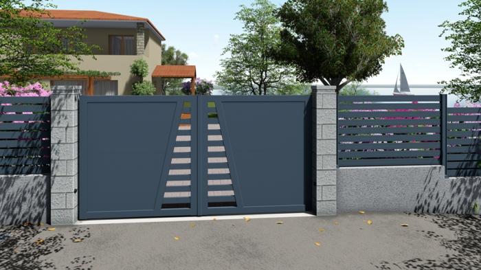 portail en aluminium maison egee