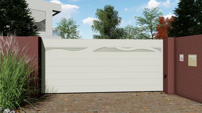 portail en aluminium maison kamissouko vague