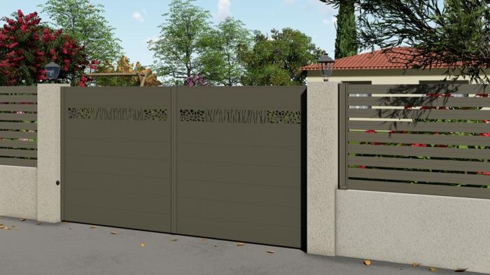 portail en aluminium maison savana