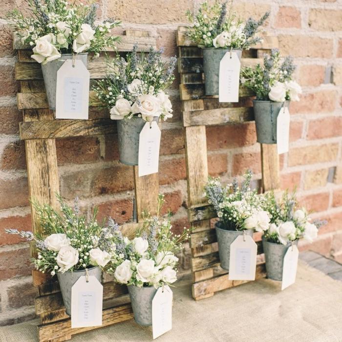 pots de fleurs plan de table mariage