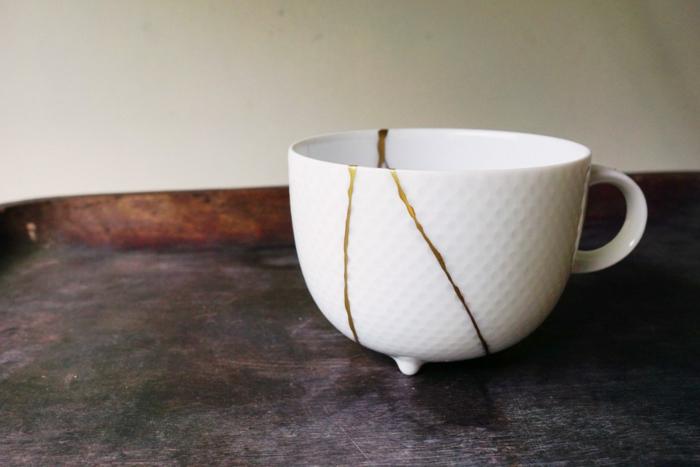 réparer avec kintsugi une tasse à thé