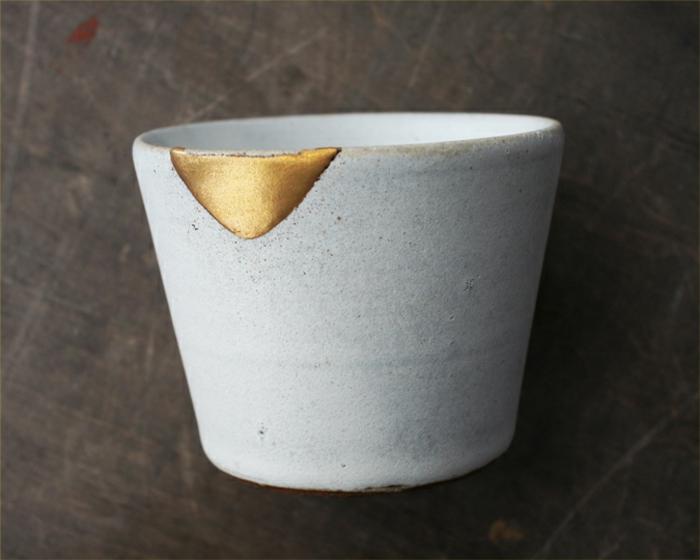 réparer la céramique brisée avec kintsugi