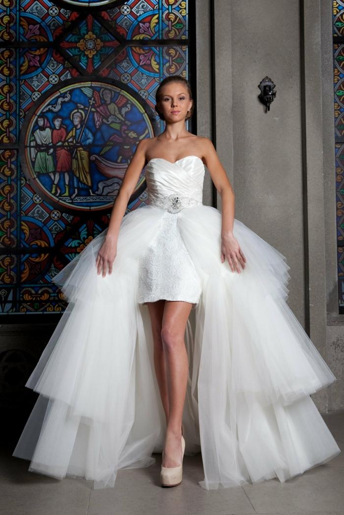 robe de mariée courte et longue modèle transformable