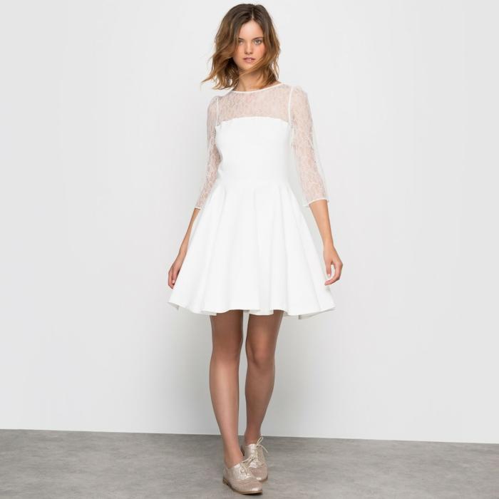 robe de mariée courte moderne