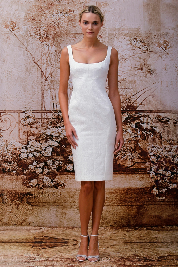 robe de mariée courte style épuré