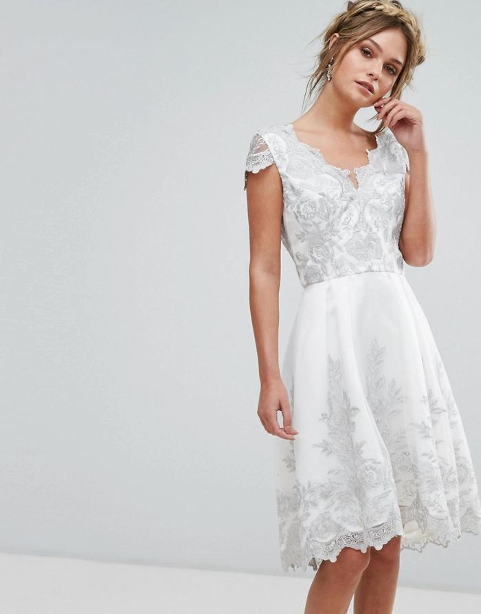 robe de mariée courte tendance 2018