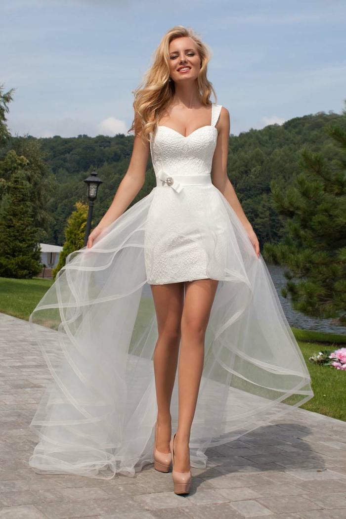 robe de mariée courte transformable