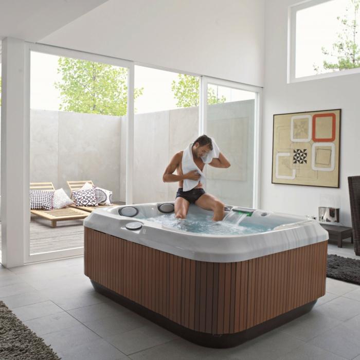 spa rigide en acrylique intérieur