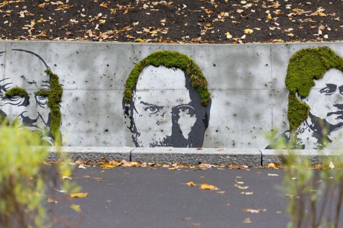 street art dessins mousse végétale