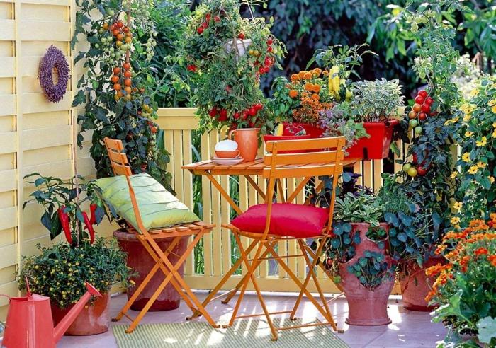 superbe idée de potager balcon