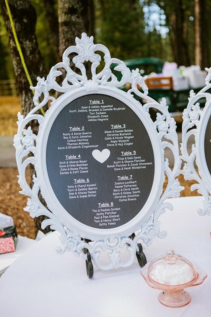 tableau noir idée plan de table mariage