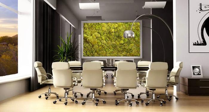tableau végétal mousse végétale bureau