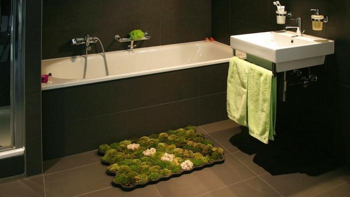 tapis salle de bains mousse végétale
