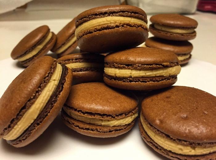 beurre d'arachide chocolat noir recette de macarons