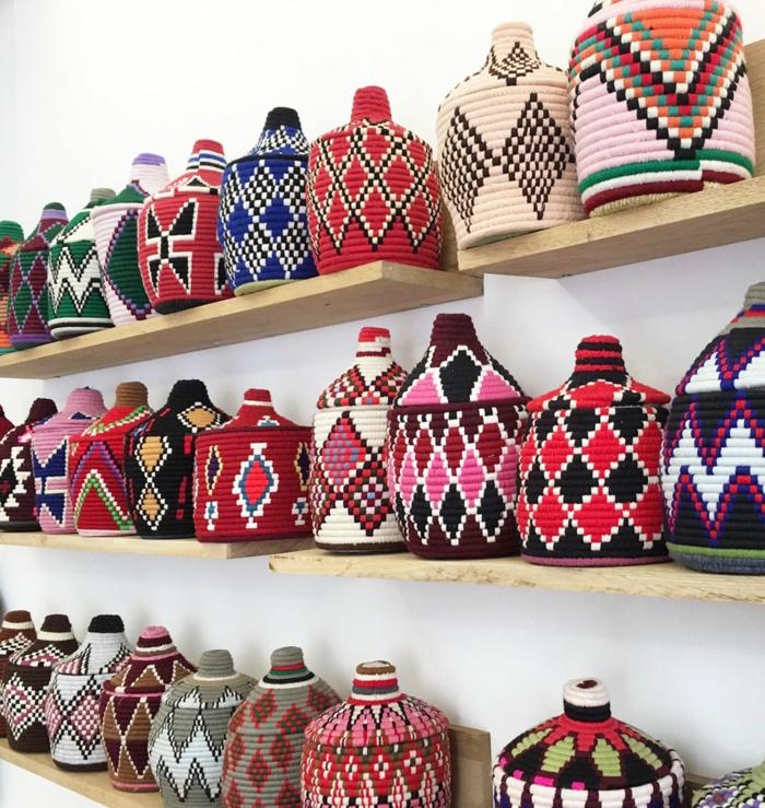 bonbonnes décorées déco berbère