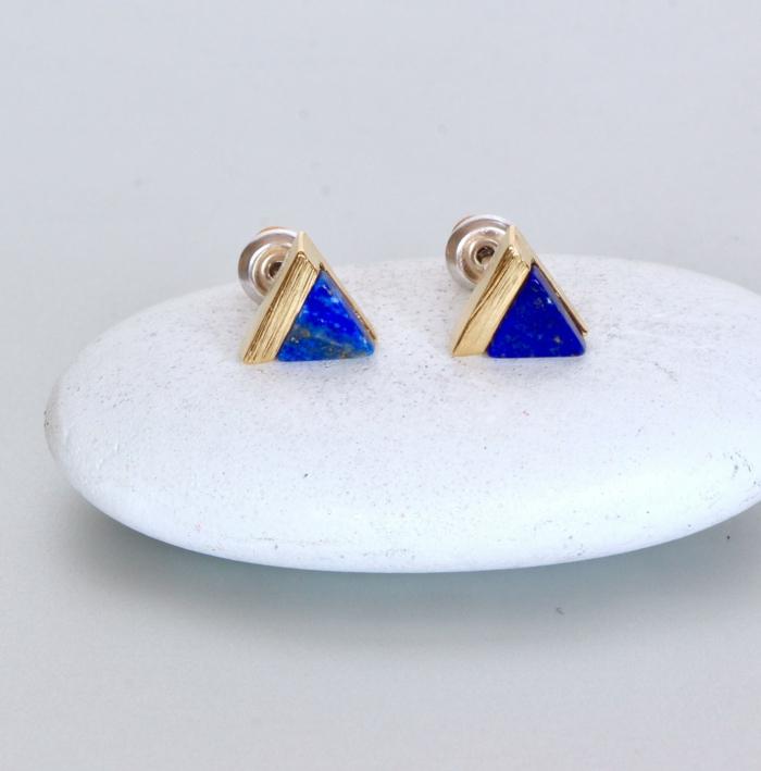 boucles d'oreilles lapis lazuli lithothérapie