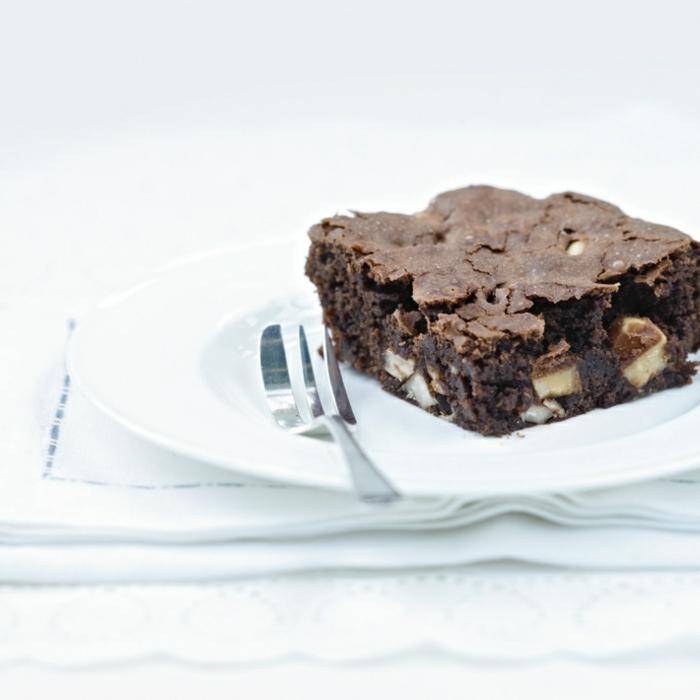 brownie avec des noix du brésil
