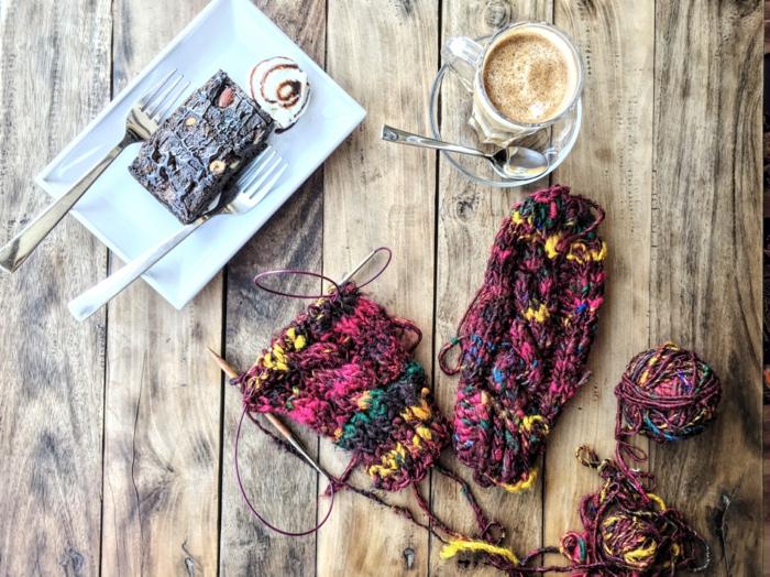 café gâteau tricothérapie