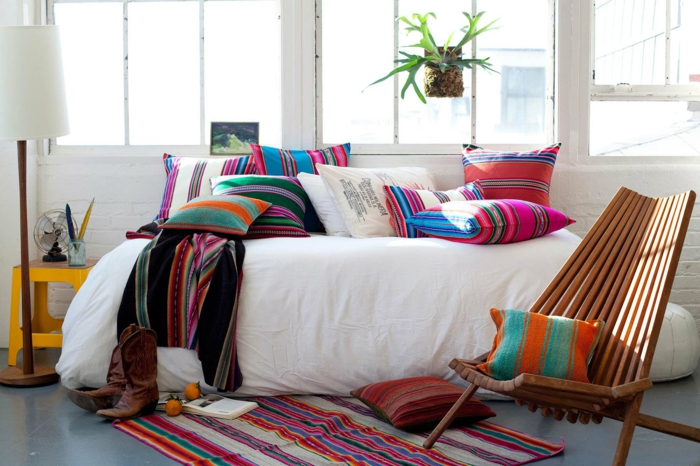 chambre à coucher décoration mexicaine