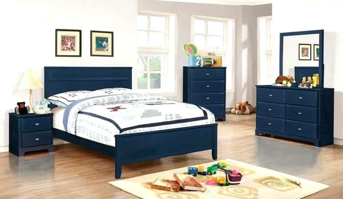 chambre en couleur claires mobilier couleur indigo