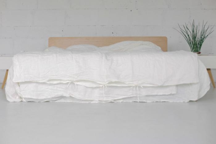 chambre linge de lit en lin