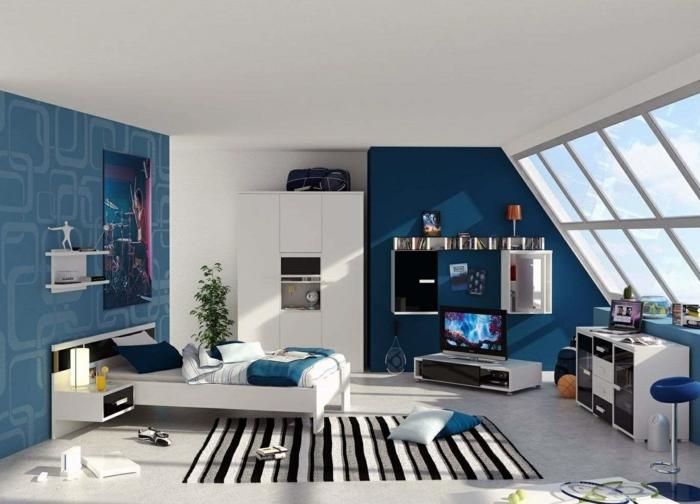 chambre lumineuse déco en couleur indigo
