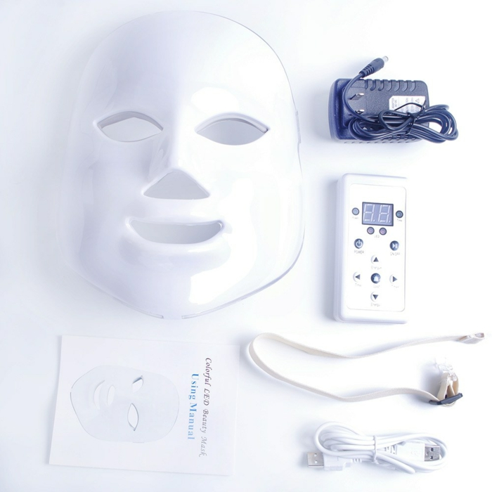 chromothérapie soin visage masque