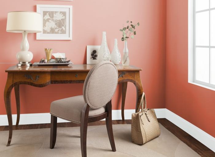 couleur corail idée de peinture pour le salon