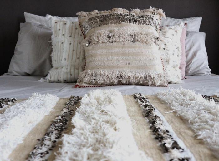 déco berbère couverture de lit handira