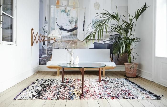 déco berbère intérieur moderne tapis berbère